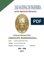 LABORATORIO 3 CALCULO DE ELEMENTOS FINITOS - ARMADURAS PLANAS