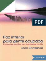 Paz interior para gente ocupada - Joan Borysenko.pdf