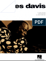 Jazz Piano Solos Volume 1 - Miles Davis (1st Ed)