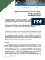 AMBROSIO, SALIBA, MONTE. O Centauro Brasileiro - A Supressão de Direitos Fundamentais Pelo Estado