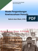 Model Pengembangan Kewirausahaan Pemuda
