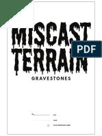 MiscastTerrain Gravestones v01 Letter