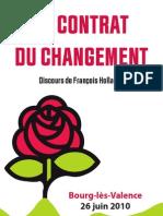 François Hollande - Le contrat du Changement