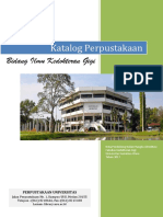 KatalogBukuPendidikanKedokteranGigi