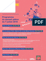 Programme Pietonisation 7 Juillet