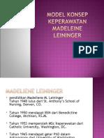 Model Konsep Keperawatan Madeleine Leininger