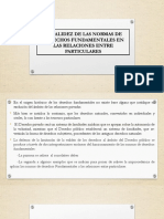 Los Derechos Fundamentales en Las Relaciones Particulares