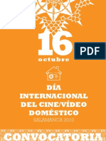 Dia Internacional del Cine/Video Doméstico_Convocatoria 2010_Salamanca