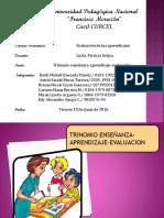 Trinomio Enseñanza Aprendizaje Evaluacion 2016