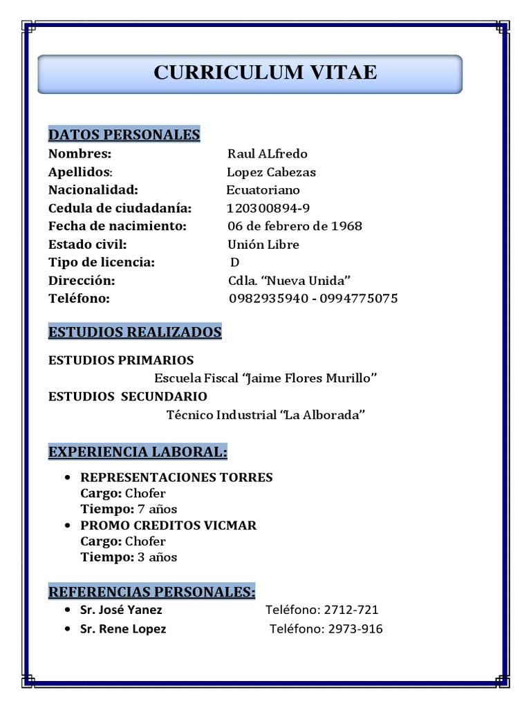 Magnífico Plantilla De Curriculum Vitae De Conductor De Pizza Regalo ...