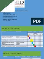 Desarollo del proyecto comunicacion educativo parte 2