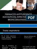 Farmacos Antitusigenos Mucoliticos y Expectorantes