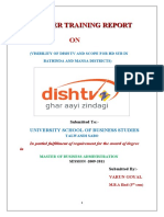 summer taining project report on dish tv