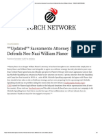 Exhibit 5 - Sacramento Attorney Danny Brace Defends Neo-Nazi William Planer - ToRCH NETWORK