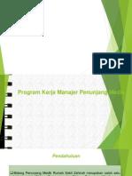 Program Kerja Manajer Penunjang Medis Arwan
