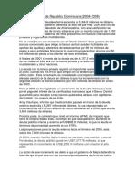 La Deuda Externa de Republica Dominicana