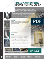 Technical Data for Bailey Platinum Plus Interior Drywall Framing System