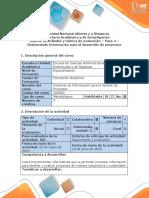 Guía de actividades y rúbrica de evaluación - Paso 4 - Gestionando Información para el desarrollo de Proyectos.docx