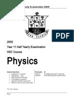 Phys Yr11 HYrly Exam 05 (1).doc