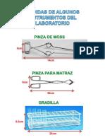 Medidas de Algunos Instrumentos Del Laboratorio