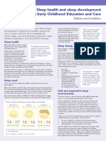 Factsheet Sleep Infants Toddlers