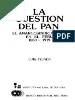 La Cuestion Del Pan El Anarcosindicalismo en El Peru 1880 (1)