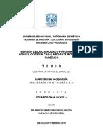 Revision de La Capacidad y Funcionamiento Hidrulico de Un Canal Mediante Modelacion Numerica_tesis