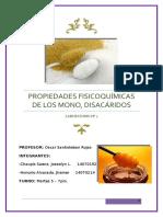 2 Informe-propiedades Fisicoquímicas de Los Mono, Disacáridos