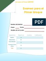 Examen 4to a 6to multigrado