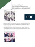 Hijab Simple Pashmina Untuk Kuliah