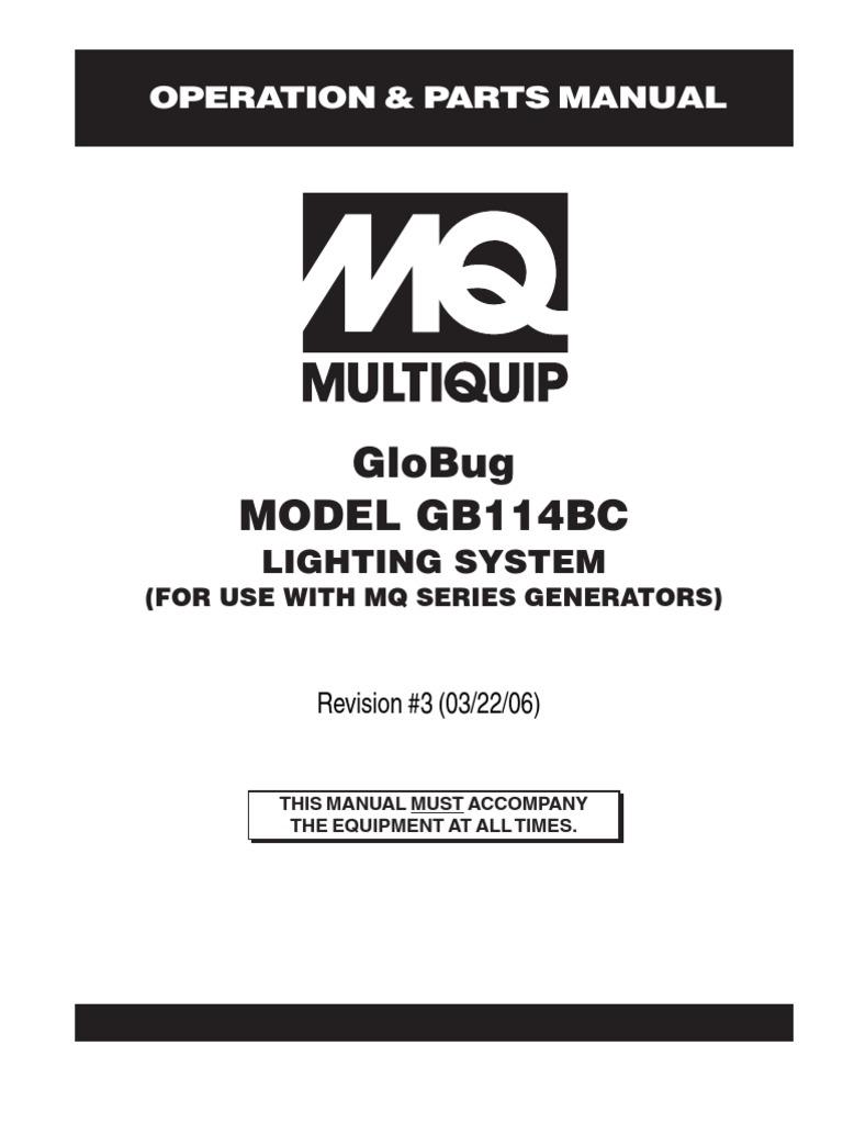 Lighting Solutions Balloon Systems GLOBUG Rev 3 Manual
