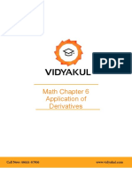NCERT Solutions Class 12 Maths Chapter 6 Application of Derivatives