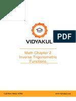 NCERT Solutions Class 12 Maths Chapter 2 Inverse Trigonometric Functions