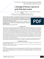 Enhancing the Strength of Porous Concrete by using the Polyvinyl Acetate