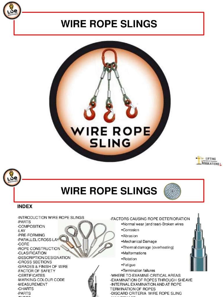 Dorable Broken Wire Rope Slings Festooning - Electrical Circuit ...