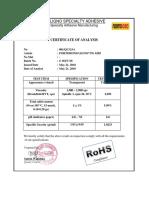 COA FORTEBOND LIGNO® PG 6285 S 192