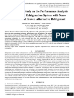 Experimental Study on the Performance Analysis of a Domestic Refrigeration System with Nano Additives and Proven Alternative Refrigerant