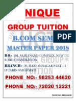 B.com Sem 6 Master Paper