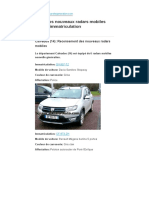 Liste voitures radars 2018-Calvados
