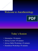 Orientation to Anesthesia