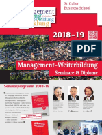 Management Aus- und Weiterbildung, Seminarprogramm 2018 - 2019, St. Galler Business School