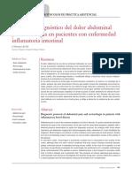 Protocolo Diagnóstico Del Dolor Abdominal y La Rectorragia en Pacientes Con Enfermedad Inflamatoria Intestinal