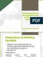 Filipino9 Ibat Ibangparaanngpagpapahayagngemosyonodamdamin 160520060657
