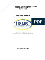 Petunjuk USMB Universitas Sriwijaya 2018