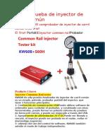 Kit de Prueba de Inyector de Carril Común