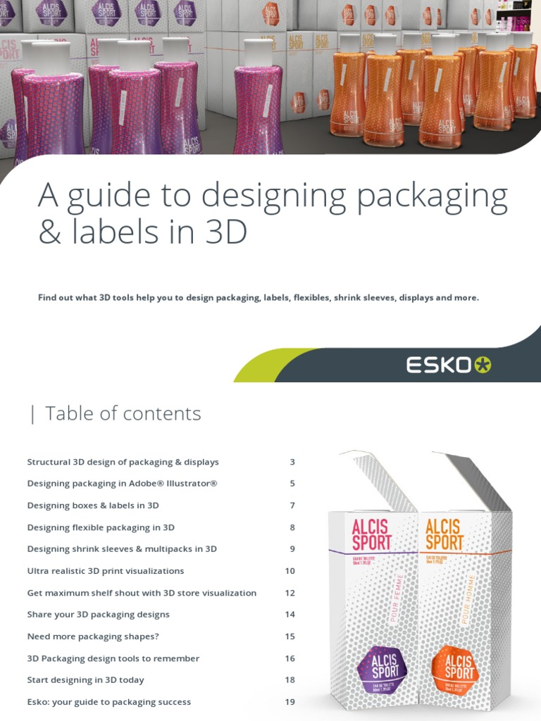 Designing Packaging and Labels in 3D Guide 030 Us | 3 D Modeling