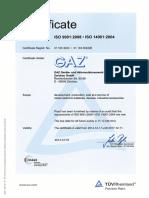 Certificate QM System 9001_14001_E