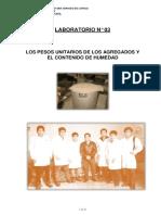 Laboratorio de Concreto Nu00ba3los Pesos Unitarios de Los Agregados y El Contenido de Humedad