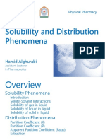 Lec. 1 Solubility and Distribution Phenomena