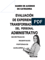 Modelo 7 Administrativos Experiencias